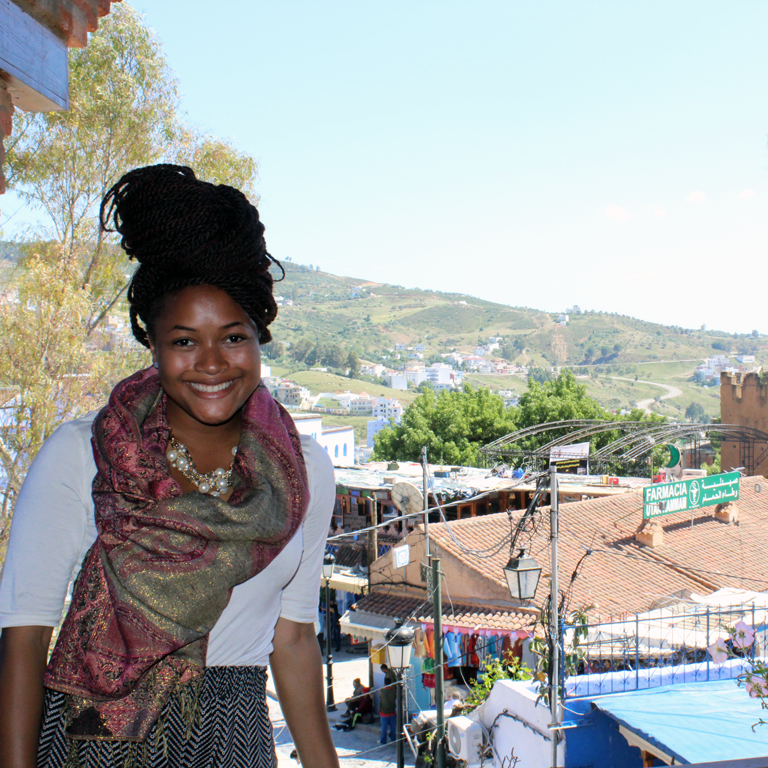 Mica Caine during her study abroad experience in Morocco