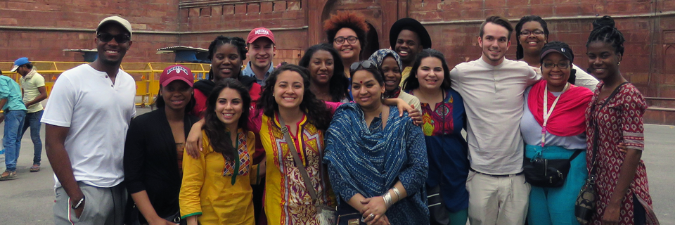 Chesley Swann and a group of OVPDEMA Overseas Studies and Scholarship Program students visit India.