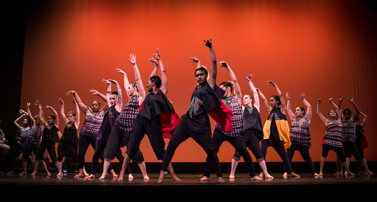 Alexis Beverly performs with the African American Dance Company.