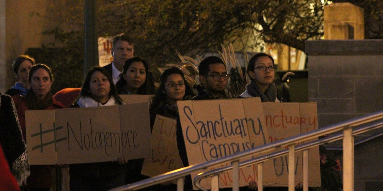 students gather to promote campus unity